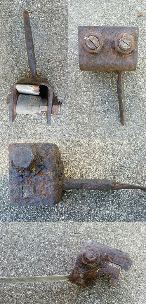 Examples of a Rusted, Flaking, and Broken Anchors